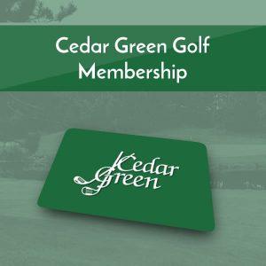 Cedar Green Golf Memberships