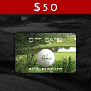 $50 Golf Sudbury Gift Card