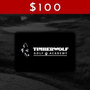 $100 Timberwolf Golf Academy Gift Card