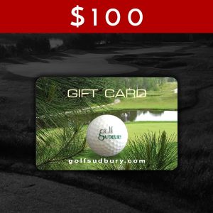 $100 Golf Sudbury Gift Card