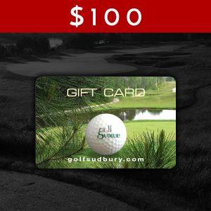 $100 Golf Sudbury Gift Card