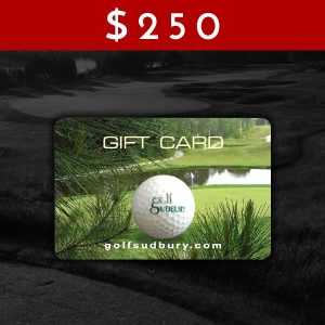 $250 Golf Sudbury Gift Card