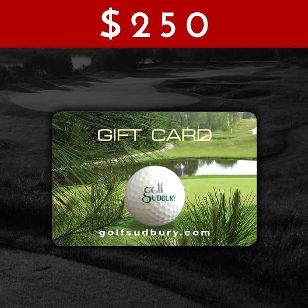 $250 Golf Sudbury Gift Card
