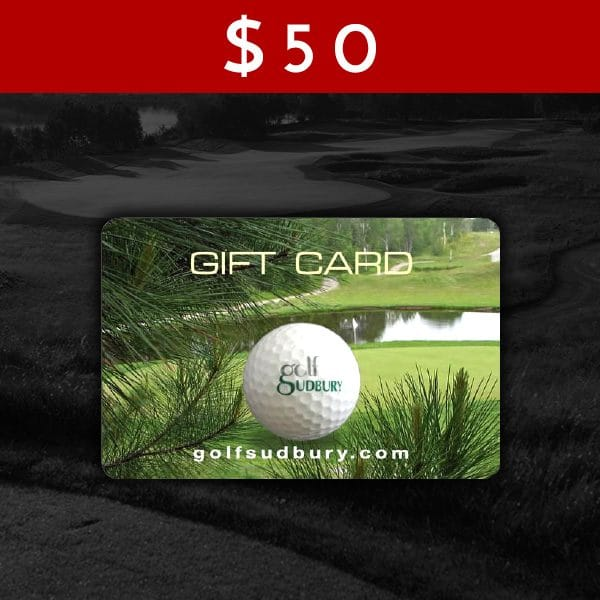 $50 Golf Sudbury Gift Card
