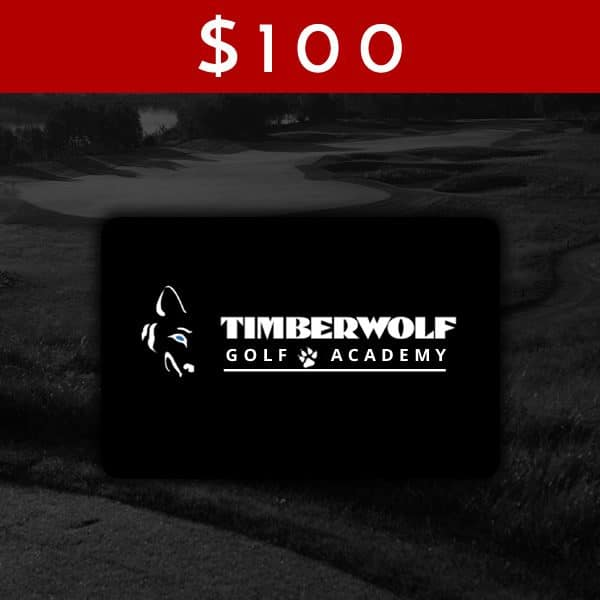 $100 Timberwolf Golf Academy Gift Card