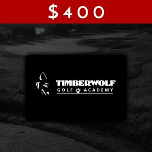 $400 Timberwolf Golf Academy Gift Card