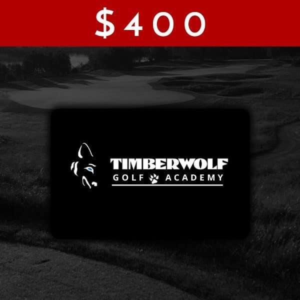 $400 Timberwolf Golf Academy Gift Card